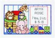 Janlynn Toy Birth Sampler Cross Stitch Kit