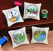 Scenic Pillows - Set of 4 - Janlynn Cross Stitch Kit