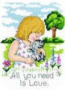 Janlynn Love is all you Need Cross Stitch Kit