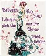 Between Two Evils - Design Works Crafts Cross Stitch Kit