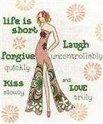 Life is Short - Design Works Crafts Cross Stitch Kit