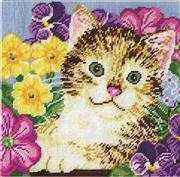 Cat in Flowers - Design Works Crafts Tapestry Kit