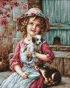 Luca-S Best of Friends Cross Stitch Kit