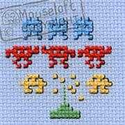 Mouseloft Space Invaders Cross Stitch Kit