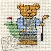 Mouseloft Golfing Teddy Cross Stitch Kit