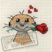 Meerkat with Rose - Mouseloft Cross Stitch Kit