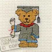 Mouseloft Graduation Teddy Cross Stitch Kit