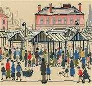 Bothy Threads Market Scene, Northern Town Cross Stitch Kit