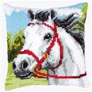 Vervaco White Horse Cushion Cross Stitch Kit