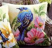 Vervaco Bird and Rose Cushion Cross Stitch Kit