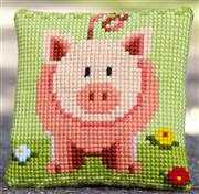Vervaco Little Piggy Cushion Cross Stitch Kit
