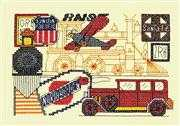 Transportation - Bobbie G Designs Cross Stitch Kit
