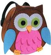 Kleiber Pink/Blue Owl Backpack Craft Kit