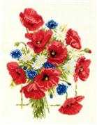 Poppy Bouquet - Pako Cross Stitch Kit