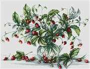 Luca-S Strawberry Bouquet Cross Stitch Kit