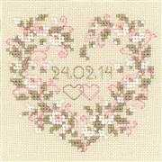 RIOLIS From All Heart Wedding Sampler Cross Stitch Kit