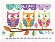 Three Owls - Stitching Shed Cross Stitch Kit