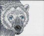 Polar Bear - Permin Cross Stitch Kit