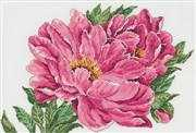 Peony - Linen - Permin Cross Stitch Kit