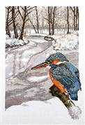 Kingfisher - Permin Cross Stitch Kit