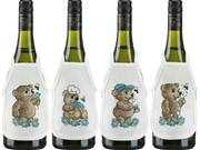 Blue Teddy Wine Aprons - Permin Cross Stitch Kit