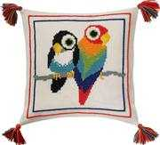 Parrot Cushion - Permin Cross Stitch Kit