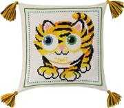 Tiger Cub Cushion - Permin Cross Stitch Kit