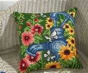 Blue Waterpump Cushion - Permin Cross Stitch Kit