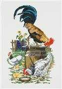 Permin Chicken Farm Cross Stitch Kit