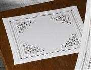 Triangle Tablemat - Permin Embroidery Kit
