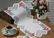 Permin Heart and Rose Runner Embroidery Kit