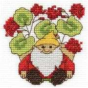 Geraniums - DMC Cross Stitch Kit