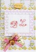 Monogram Bear Card - Pink