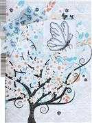 Luca-S Butterfly Card Wedding Sampler Cross Stitch Kit