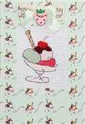 Luca-S Ice Cream Sundae Card - Green Cross Stitch Kit