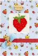Luca-S Strawberry II Card Cross Stitch Kit