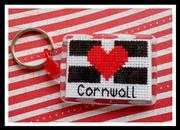 Love Cornwall Keyring - Emma Louise Art Stitch Cross Stitch Kit