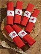 Permin Christmas Motif Napkin Rings Cross Stitch Kit