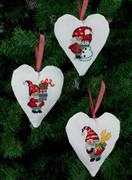 Santa Tree Hearts - Permin Cross Stitch Kit