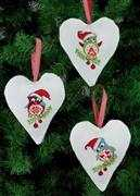 Owl Tree Hearts - Permin Cross Stitch Kit