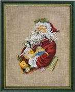 Santa Claus and Toys - Permin Cross Stitch Kit