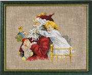 Permin Santa Claus Hug Christmas Cross Stitch Kit