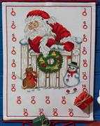 Santa with Dog Advent - Permin Cross Stitch Kit