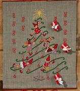 Permin Christmas Tree Advent Calendar Cross Stitch Kit