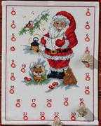 Carol Singing Santa Advent - Permin Cross Stitch Kit