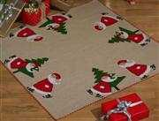 Skating Santas Tree Skirt - Permin Cross Stitch Kit