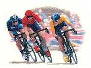 Cycle Race - Evenweave - Heritage Cross Stitch Kit