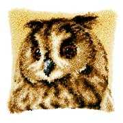 Vervaco Brown Owl Cushion Latch Hook Cushion Kit