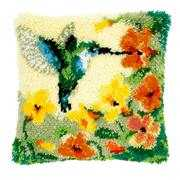 Hummingbird Cushion - Vervaco Latch Hook Kit