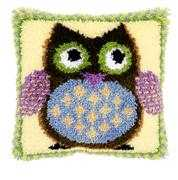 Mr Owl Cushion - Vervaco Latch Hook Kit
